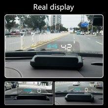 C500 Vouwen Obd Auto Hud Head Up Display Water Temp Volt Overspeed Alarm Systeem Auto Elektronische Voltage Alarmen