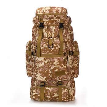 75L Large Capacity Waterproof Backpack Men Travel Bags Luggage Duffel Bag Weekend Bag Outdoors Camouflage Bag Shoulders Backpack - DISCOUNT ITEM  50% OFF All Category