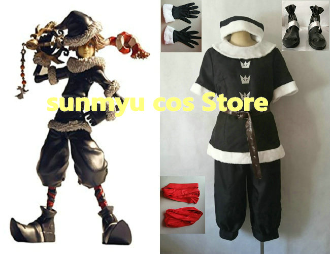Kingdom Hearts Sora Halloween Town Costume.Toys Are Discounted Kingdom Hearts 2 Sora Cosplay In Toy World