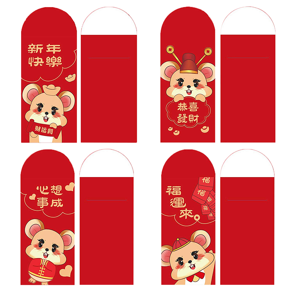2021 Chinese Red Lucky Envelopes Creative Lucky Money Bags Cartoon New Year\'S Red Packet New Year Money Envelopes Pouches-1