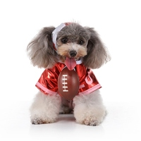 Pet Halloween Cosplay Costume Funny Cheerleading Outfits Set 2 legged Shirt And Hat For Small And Medium Dogs