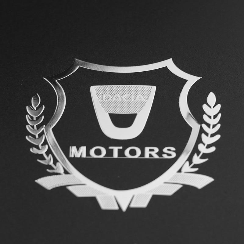 2pcs Excellent 3D Metal Car Sticker Emblem Badge Case For Dacia Lodgy 2 Mcv Sandero Duster Logan Sandero Accessories Car Styling