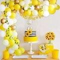 Sun Flower Balloon Garland Summer Wedding Birthday Party Decor Kids Baby Shower Balloon Arch Party Supplies Christening Decor