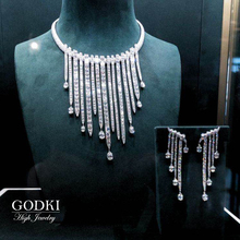 Necklace-Set Crystal-Dress Party-Jewelry-Set GODKI Nigeria Zircon Dubai Wedding-Saudi