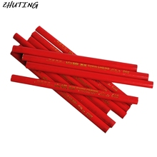 10x 175mm Carpenters Pencils Black Lead For DIY Builders Joiners Woodworking New цена и фото