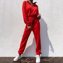Tracksuit Women Fitness Two Piece Set Top and Pant Long Sleeve Crop Top SweatSuits sets Women 2 Piece Set Female 2020 Outfits(China)