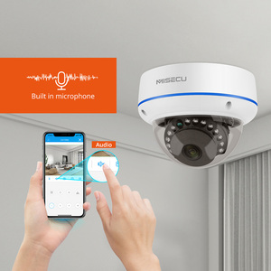 Image 2 - Misecu 8CH H.265 5.0MP Bewakingscamera Ip Dome Camera Vandalismebestendig Indoor Audio Cctv Camera Home Video Surveillance kit