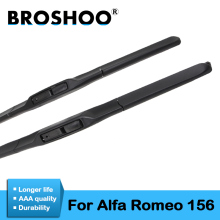 цена на BROSHOO Car Windscreen Wipers Blades Rubber For Alfa Romeo 156 22+20,1997 1998 1999 2000 2001 2002 2003 2004 2005 2006 2007