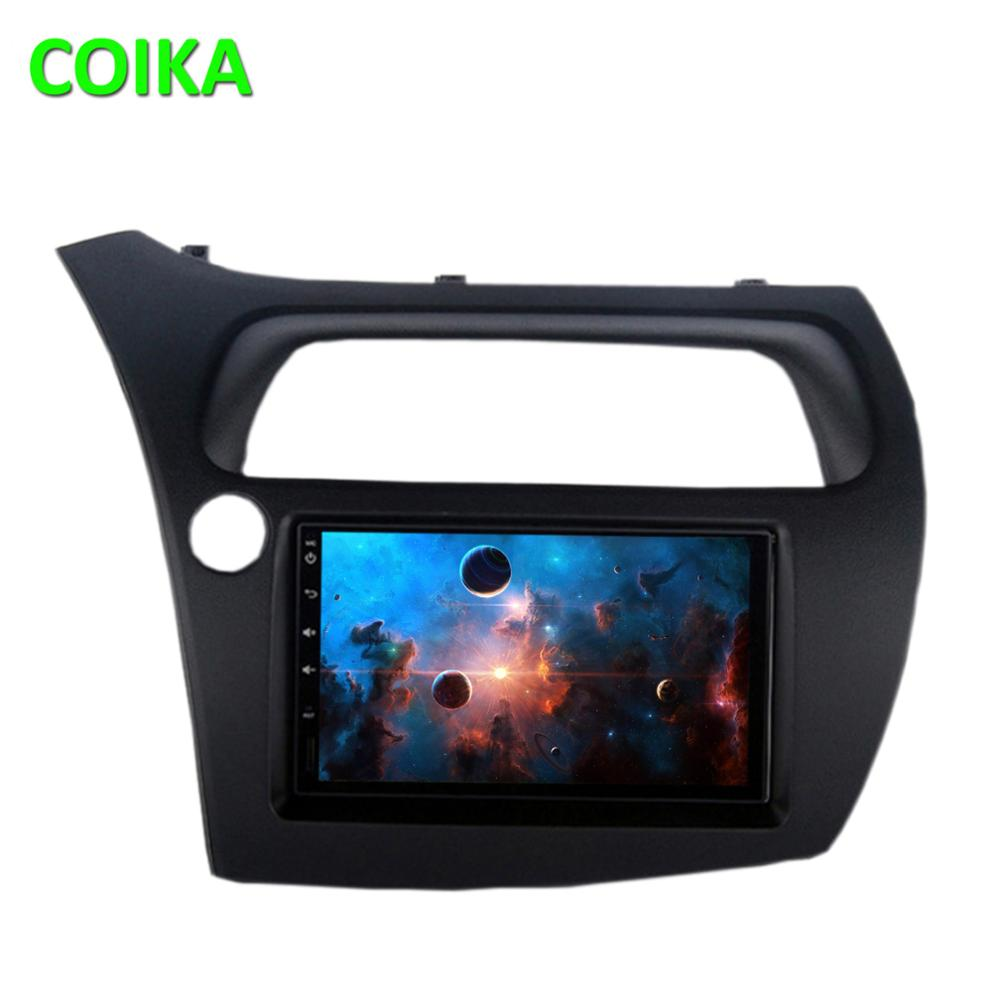 COIKA Octa Core IPS Touch Android 9.0 System Car Radio For Honda Civic 06-12 GPS BT RDS WIFI 4G LTE SWC 4+64GB RAM OBD DVR Audio image