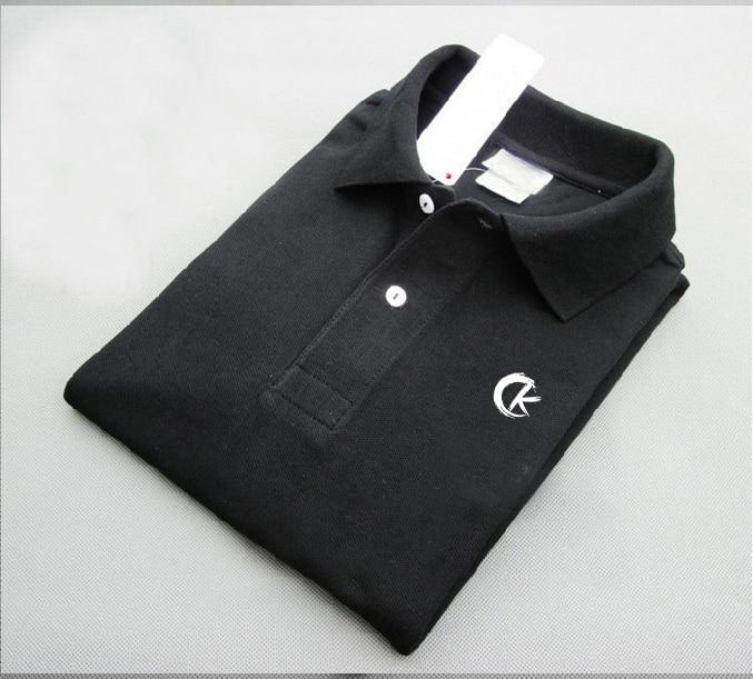 Рубашка-поло мужская с отложным воротником, однотонная модная простая свободная хлопковая футболка с коротким рукавом, лето