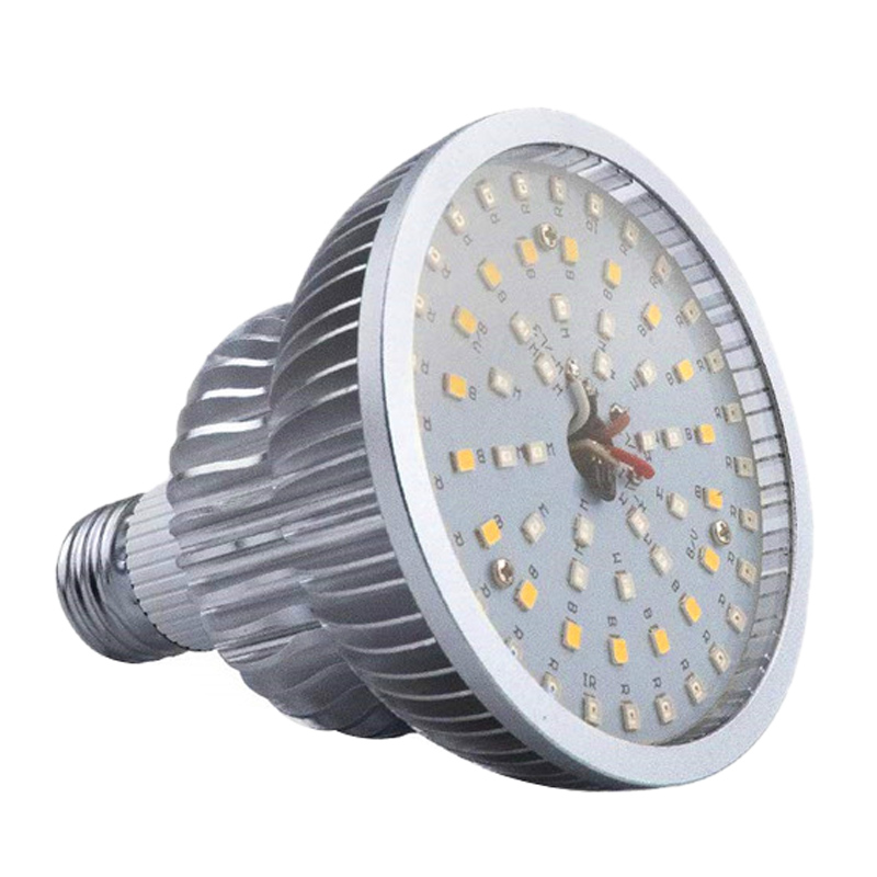 50W Full Spectrum Plant Grow Led Light Bulbs Remote Control Dimmable Phytolamp With Timer E26 Greenhouse Tent Eyeglass Free