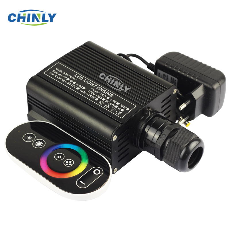 Fiber Optic Light Engine 16W RGBW LED Driver With RF Touch Remote Control Starry Sky Effect LED Lighting In Warranty 2 Years