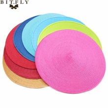 4pcs PP Dining Table Mat Woven Placemat Pad Heat Resistant Bowls Coffee Cups Coaster Table Napkins For Home Kitchen Party Supply