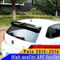 Высокое качество ABS Спойлер для Volkswagen Polo 2010-2016 год спойлер праймер или сделай сам цвет автомобиля заднее крыло спойлер для Polo