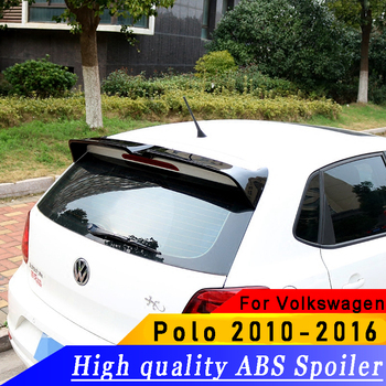 цена на High quality ABS spoiler for Volkswagen  Polo 2010-2016 year spoiler primer or DIY color car rear wing spoiler for Polo