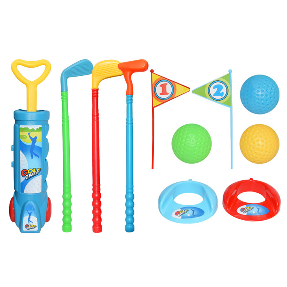 Kids Toy ABS Fitness Gift Outdoor Sports Golf Clubs Set Ball Mini Exercise Interactive Parent Child Activities Game