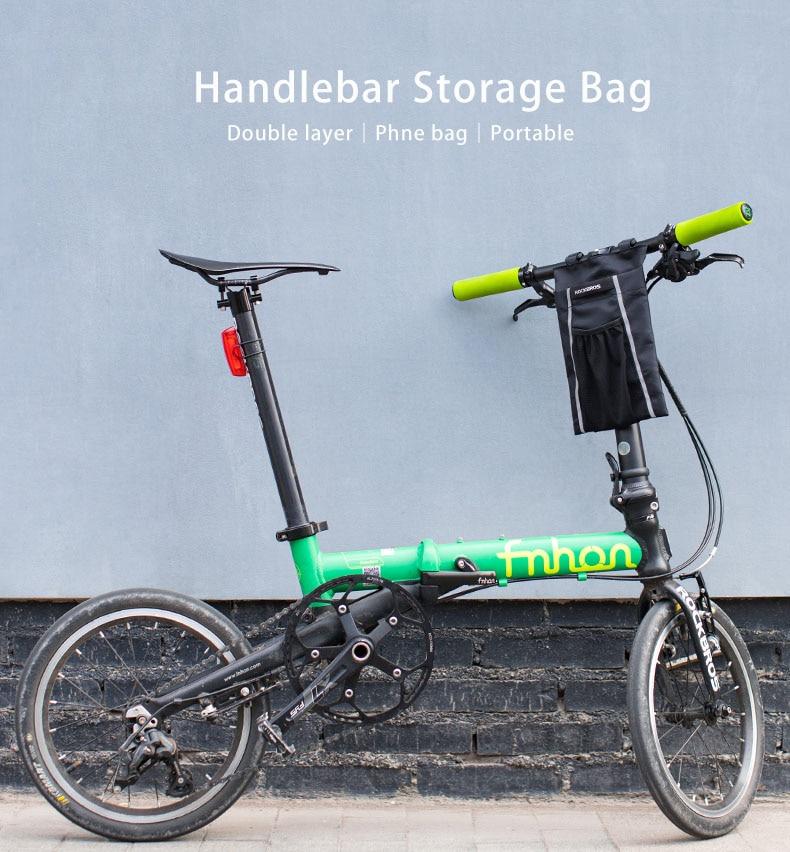 RockBros Cycling Handlebar Bag Bicycle Waterproof Bag Capacity 4-5L Black Gold