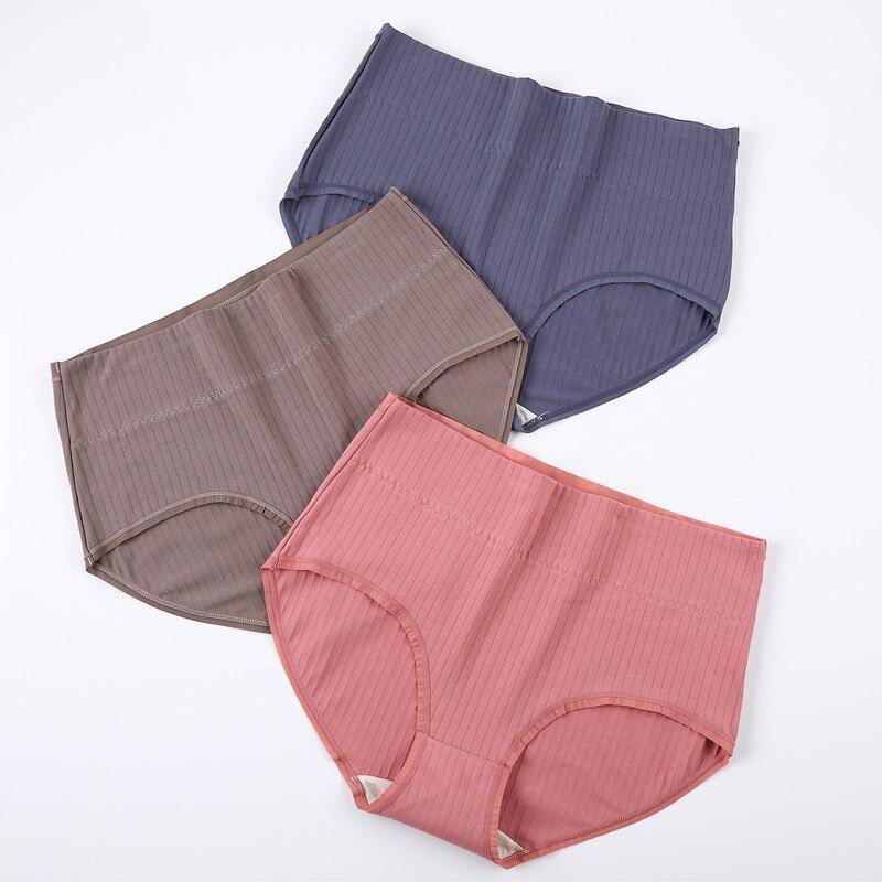 M-4XL Panties For Women Cotton High Waist Underwear Female Casual Underpants Ladies Briefs Winter Women Plus Big Size Lingerie