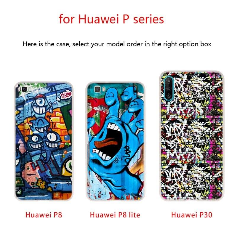 Soft Silicone Case graffiti wallpaper For Huawei P40 P30 P20 Pro P10 Plus Lite P Samrt Z 2019 E 2020