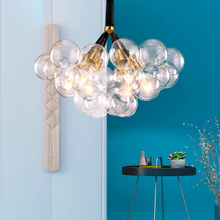 Contracted personality bedroom E27 art glass ball Bubble Pendant light High quality hardware lampbody decorate LED hanging lamp