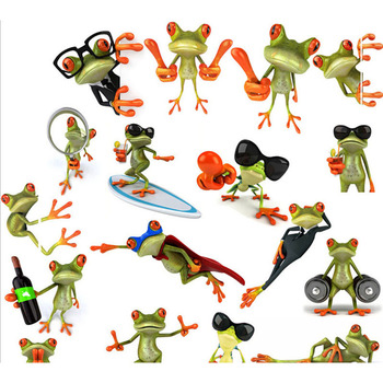 1pc New Arrival 3D Frogs Funny Car Stickers car styling vinyl decal sticker decoration High temperature & water Proof image