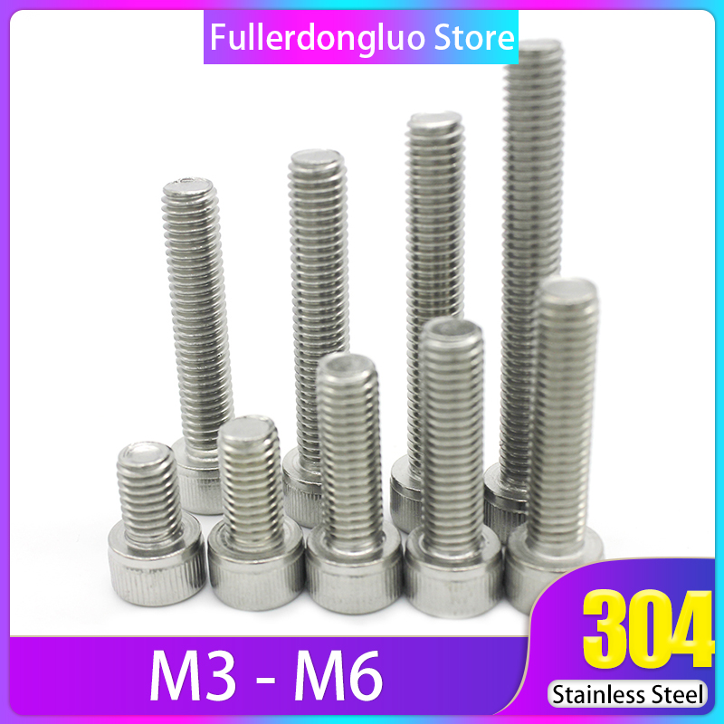 HEAVY DUTY M3 M4 M5 SOCKET BUTTON SCREWS Hex Dome Head A2 Stainless Steel Bolts