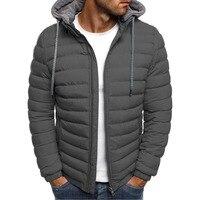 Zogaa зимняя куртка мужская куртка с капюшоном повседневные мужские куртки на молнии парка Теплая одежда мужская уличная одежда для мужчин 2019