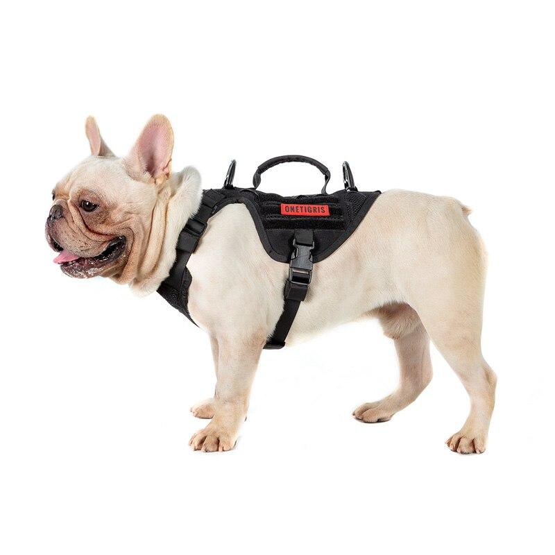 OneTigris مولي صغير الحجم الكلب سترة K9 تسخير كلب صغير مولي سترة المقبض المقود كليب لخدمة الكلب