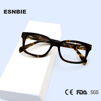 Acetate okulary korekcyjne rama mężczyźni kwadratowa ramka okulary okulary optyczne krótkowzroczność okulary dla kobiet wyprzedaż wyprzedaż tanie i dobre opinie ESNBIE Unisex Octan Stałe 7665-1 eyeglasses FRAMES Okulary akcesoria handmade acetate 50-17-140 sblack S tortoise Any Face Shape