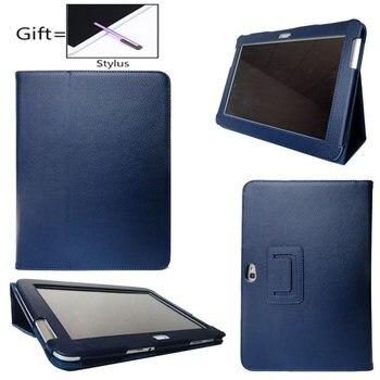 Imán de cuero de la Pu cubierta caso para Samsung Galaxy Nota 10,1 GT N8000 Tablet N8010 N8013 N8020 Folio Flip caso