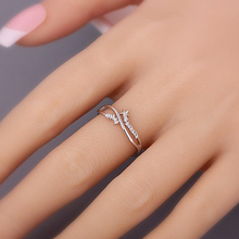 Fashion Five Star Shaped Wedding Rings Womens Zircon Engagement Glamour Jewelry D20