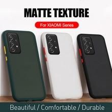 Skin Feel Matte Silicone Bumper Hard PC Back Case For Samsung Galaxy A 12 42 32 52 72 A12 A42 A32 A52 A72 2021 4G 5G Coque Funda