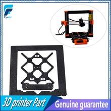 Klon Original Prusa i3 MK3S 3D Drucker Teile Aluminium Legierung Rahmen Y Wagen Vorne Mit Hinten Platte + Aluminium Schwarz profil Kit