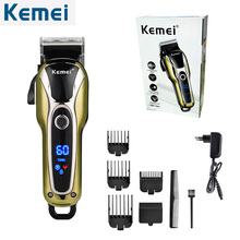 Kemei Hair Clipper Professional Hair Trimmer in Hair clippers for men Electric Trimmers LCD Display Machine Barber KM-1990