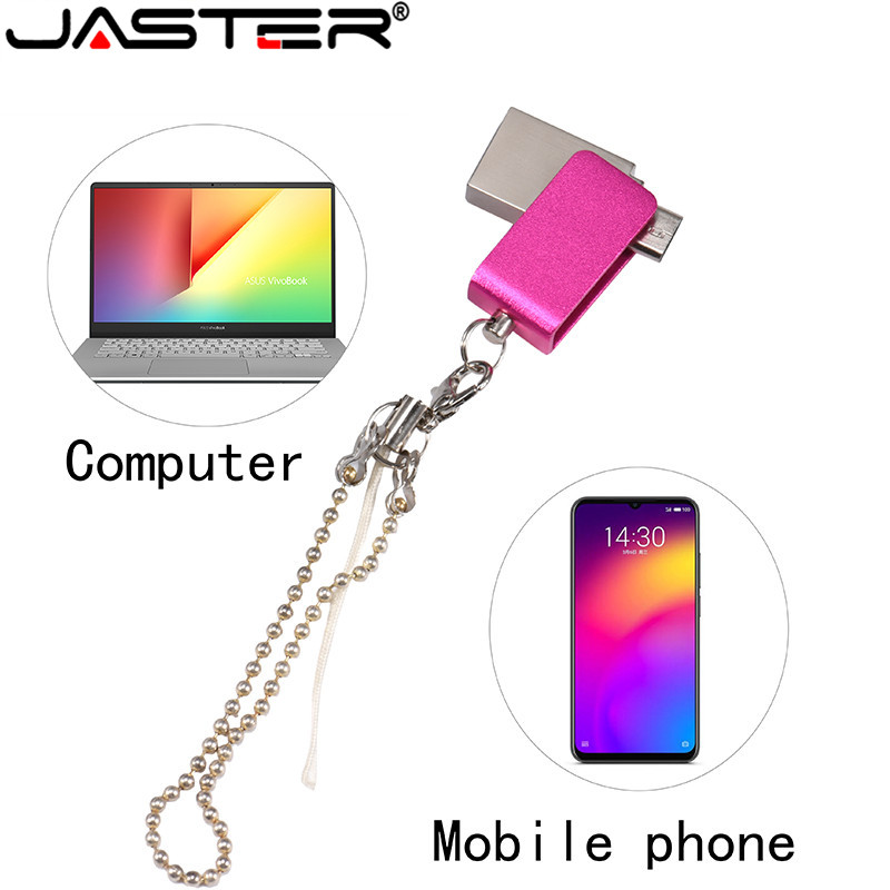 JASTER Usb 2.0 Pen Drive 4gb 16gb Flash Drives Pendrive 32 Gb Usb Memory Stick 64g OTG Metal Usb Flash Drive For Android Phone