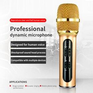 Image 2 - 휴대용 전문 가라오케 콘덴서 마이크 노래 녹음 에코 사운드 카드와 휴대 전화 컴퓨터에 대 한 라이브 Microfone