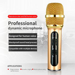 Image 2 - Portable Professional Karaoke Condenser Microphone Sing Recording Live Microfone For Mobile Phone Computer With ECHO Sound Card