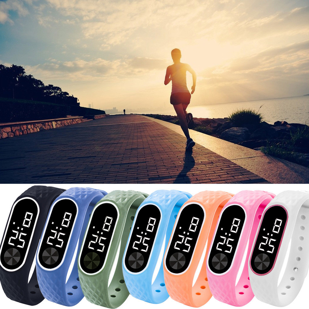 Watches Children's LED Digital Display Bracelet Watch Children's Students Silicone Sports Watch Electronic Wristwatch Reloj Nino