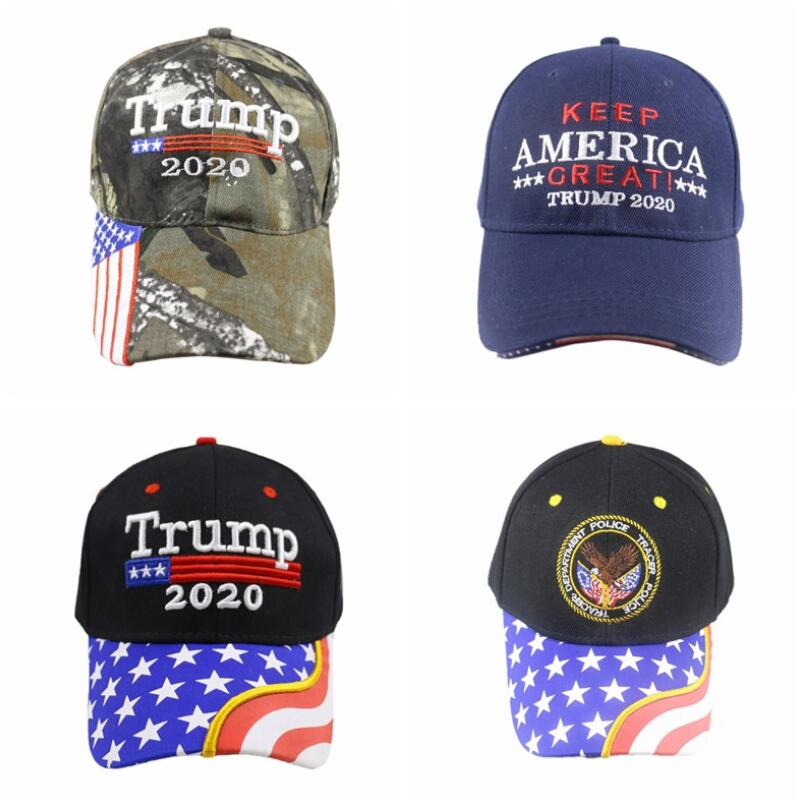 2020 President Donald Trump American Flag Hats Unisex Cap Make Keep America Great MAGA Hat USA Camo Camouflage <font><b>Kag</b></font> Baseball Caps image