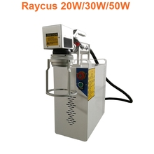 Raycus 20W 30W handheld fiber laser metal marking machine used for stainless steel aluminum big size materials