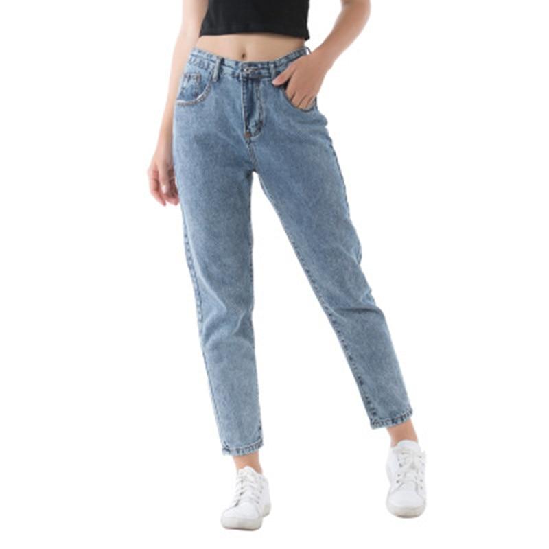 2020 Harem Pants Vintage Casual High Waist Jeans Women Summer Boyfriend Jeans Lady Loose Mom Jeans Cowboy Denim Pants Streetwear