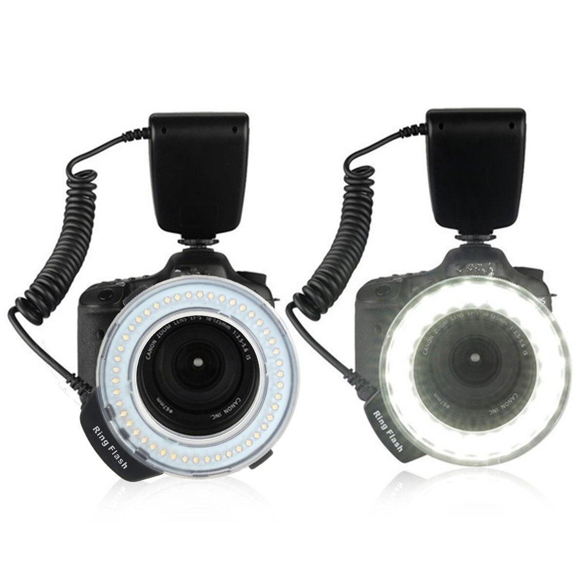 Макросъемный кольцевой светильник со вспышкой, скоростной светильник 48 Светодиодный светильник+ Адаптер для объектива 8+ рассеиватель для Nikon для Canon DSLR камеры, аксессуары для вспышки