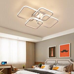 Image 4 - Square Circel Rings Ceiling Lights  For Living Room Bedroom Home AC85 265V Modern Led Ceiling Lamp Fixtures lustre plafonnier