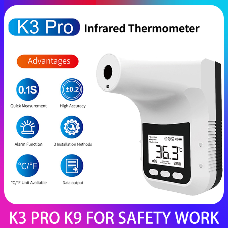 Цифровой термометр K3 PRO с ЖК-дисплеем, Бесконтактный смарт-термометр для лба, тела, офиса, магазина, инфракрасный