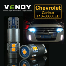 1pcs Car LED Clearance Light W5W T10 Bulb Lamp For Chevrolet Cruze niva captiva lacetti camaro Impala Corvette Aveo 5 Caprice