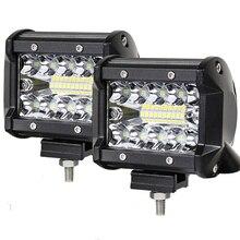 Car LED Work Light Bar Driving Lamp for Offroad Boat Tractor Truck 4x4 Led Fog Lights 12V 24V Headlight for ATV Led Light Bar