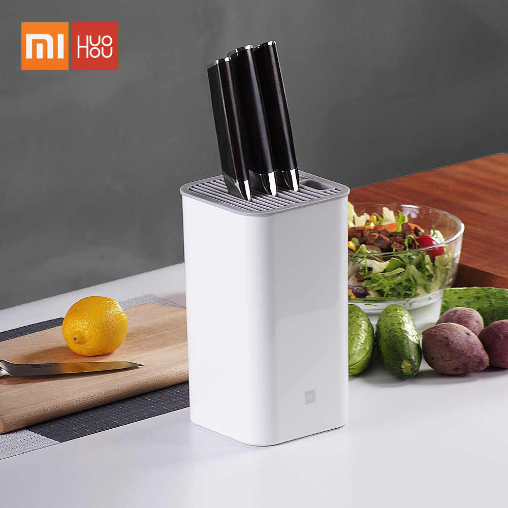 Xiaomi Mijia Huohou Kitchen Knife Stand Tool Holder Multifunctional Tool Holder Knife Block Cooktops Tube Shelf Chromorphous