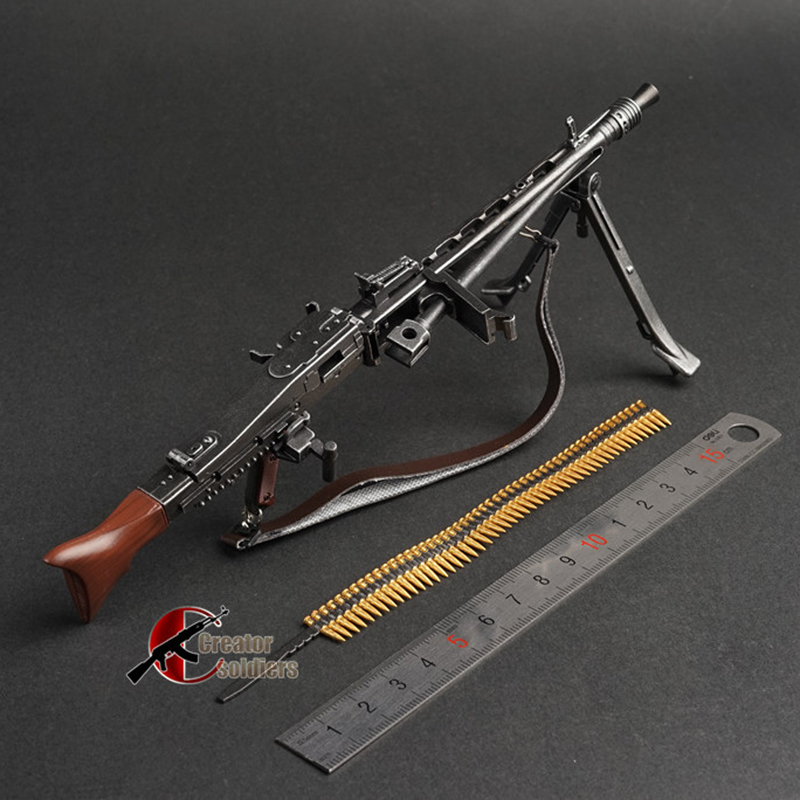 1/6 1:6 MG42 Automatic Rifle Assembling Gun Model Assembly Plastic Weapon For 1/6 Soldier Military Building Blocks Toy For