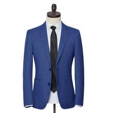 2020 Spring Autumn Men blazer Fashion Slim Suit jacket Men B