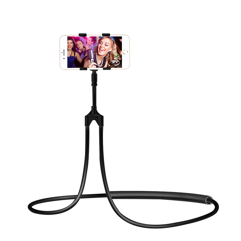 Portable Flexible Mobile Phone Holder Hanging Neck Lazy Necklace Bracket 360 Degree Smartphone For IPhone Xiaomi Huawei TSLM1